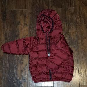 Maroon toddler puffer jacket